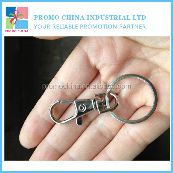 Wholesale Custom Good Quality Metal Keyring Hook Keychain Parts