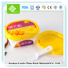custom logo printed disposable plastic icecream dessert cup