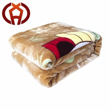 Double Side Stock Raschel Fleece Soft Polyester Thermal Blanket
