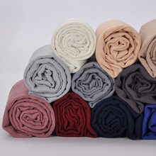 Soft solid plain tr shawl hijab muslim women crinkle hijab polyester viscose scarves