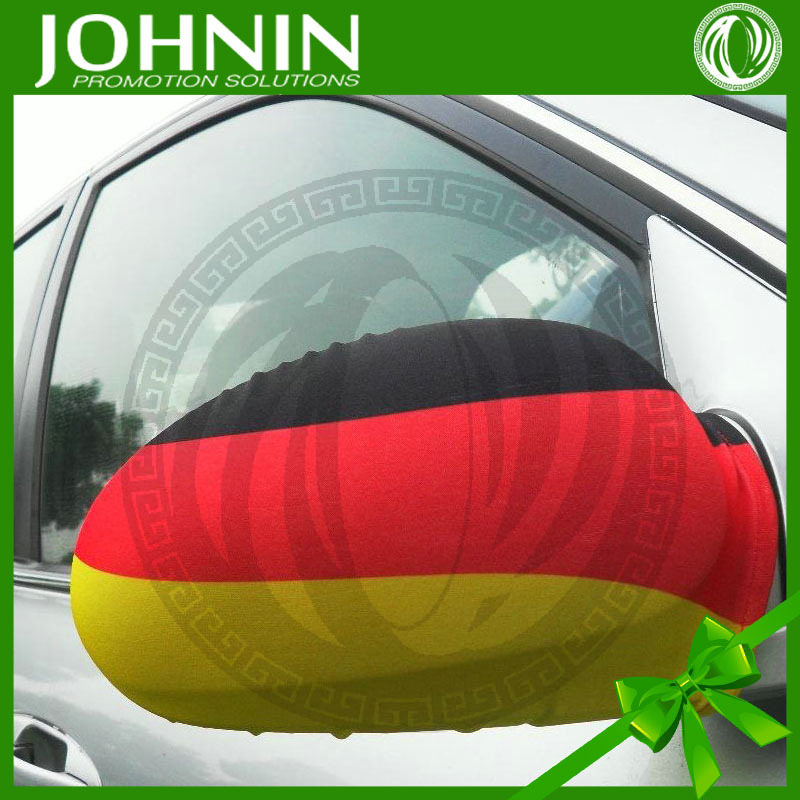 German soccer fans hot sale custom logo 28*30cm 250gsm car side mirror cover