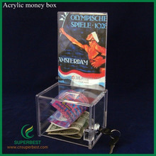 Wholesale Acrylic Donation boxes/Charity Box with lock