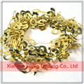 50th Birthday 50 Gold Party Hanging Decoration Foil Wire Garland