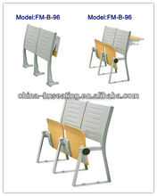 FM-B-96 College folding wood table and chair for study