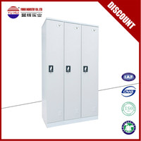 Office furniture 3 door metal wardrobe / 3 door steel locker / three door metal locker