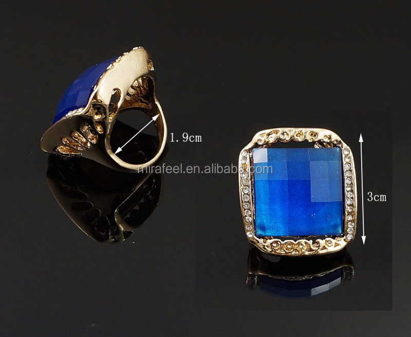 Blue colors Engagement dubai 18 carat gold jewelry sets as gift for wedding jewelry sets