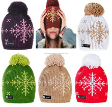 Winter Women Ladies Beanie Hat Wool ESKIMO Warm Fashion Ski Snowboard Hats Cap