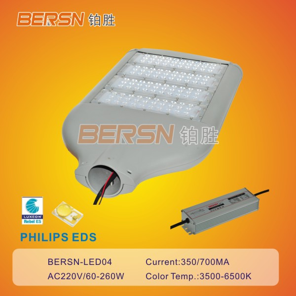 New Design 40w-260w LED Streetlights with CE RoHs Certificate
