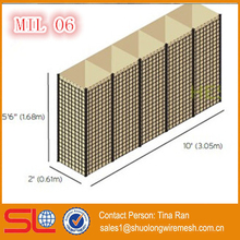 ISO manufactory MIL 6 Hesco Defensive Water Barrier 1.68x0.61x3.05m
