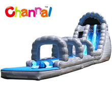 Inflatable wild rapid slip and slide/inflatable long ocean wave slide