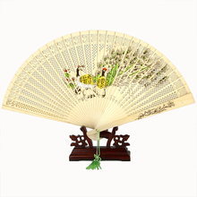 wood hand fan with diffrent design GYS123