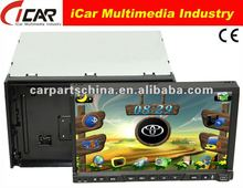 2 din 7 inch car dvd player multimedia with Detachable panel built in gps Ipod function bluetooth tv