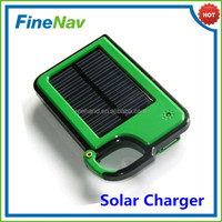 Portable bag hang buckle 1450mah mobile green solar charger for iphone 5s
