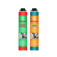 Non-yellow fireproof gap mounting white spray PU spray foam sealant for filling seam