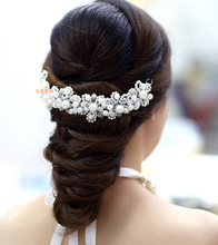 Wholesale bridal hair accessories crystal headbands wedding accessory for bride