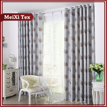 Japanese door jacquard dimout antibacterial gray fabric for curtain