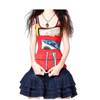 women red dance custom sublimated tank top wholesale