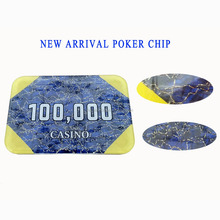 crystal casino plaque/ poker chip
