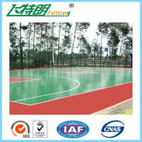 Eco-friendly green oily top-coating system PU flooring sports court material