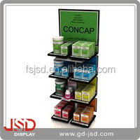 Best price any size customized display floor stand commodity display case
