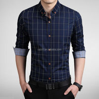 2015 New Design Fashion Slim Fit Men's Shirts High Quality Casual Long Sleeve Men's Shirt