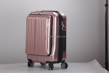 ABS PC one travel trolley eminent suitcase with front pocket