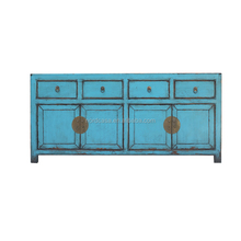 factory price of reclaimed wood chinese antique reproduction blue sideboard