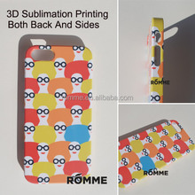 Professionally Mobile Phone Case Manufacturer Supply 3D Sublimation transfer printing case cover for iphone 5