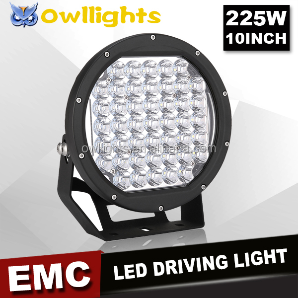 New arrival off road led driving light, 225w 10inch LED spot light 4x4 led driving lights