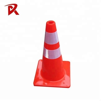 12/18/28/36 Inch Fluorescent Flexible Orange Color PVC Cones