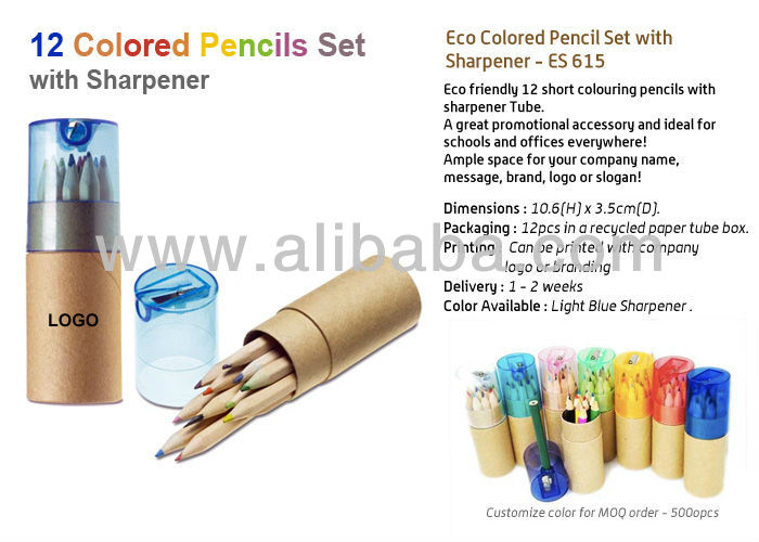 Eco Colored Pencil Set with Sharpener - ES 615