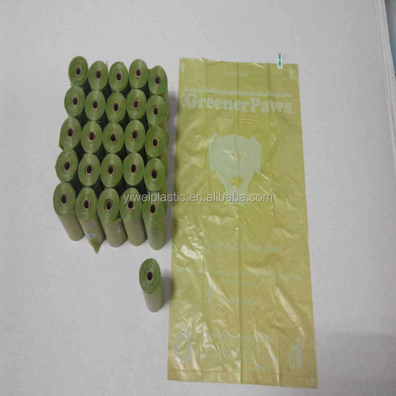 Customized Biodegradable Plastic Dog Poop Waste Trash Bag on Roll