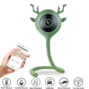 Baby Monitor Baby Camera with Temperature and Humidity Display, Real Baby Crying Alarm System Lullaby Music 720P HD