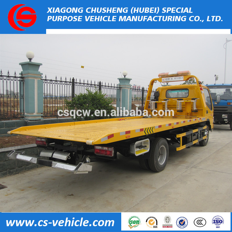 Good quality and price China famous brand 4X2 platform towing and crane wrecker truck 5 ton For South-america market