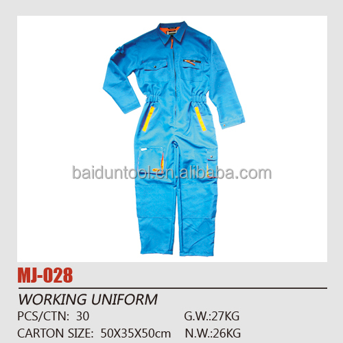 100% polyester Work Clothes/overalls