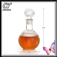 New Glass Hip Flask for Whisky Liquor Wine Bar Home Glass Bottle With Stoopers wine divider