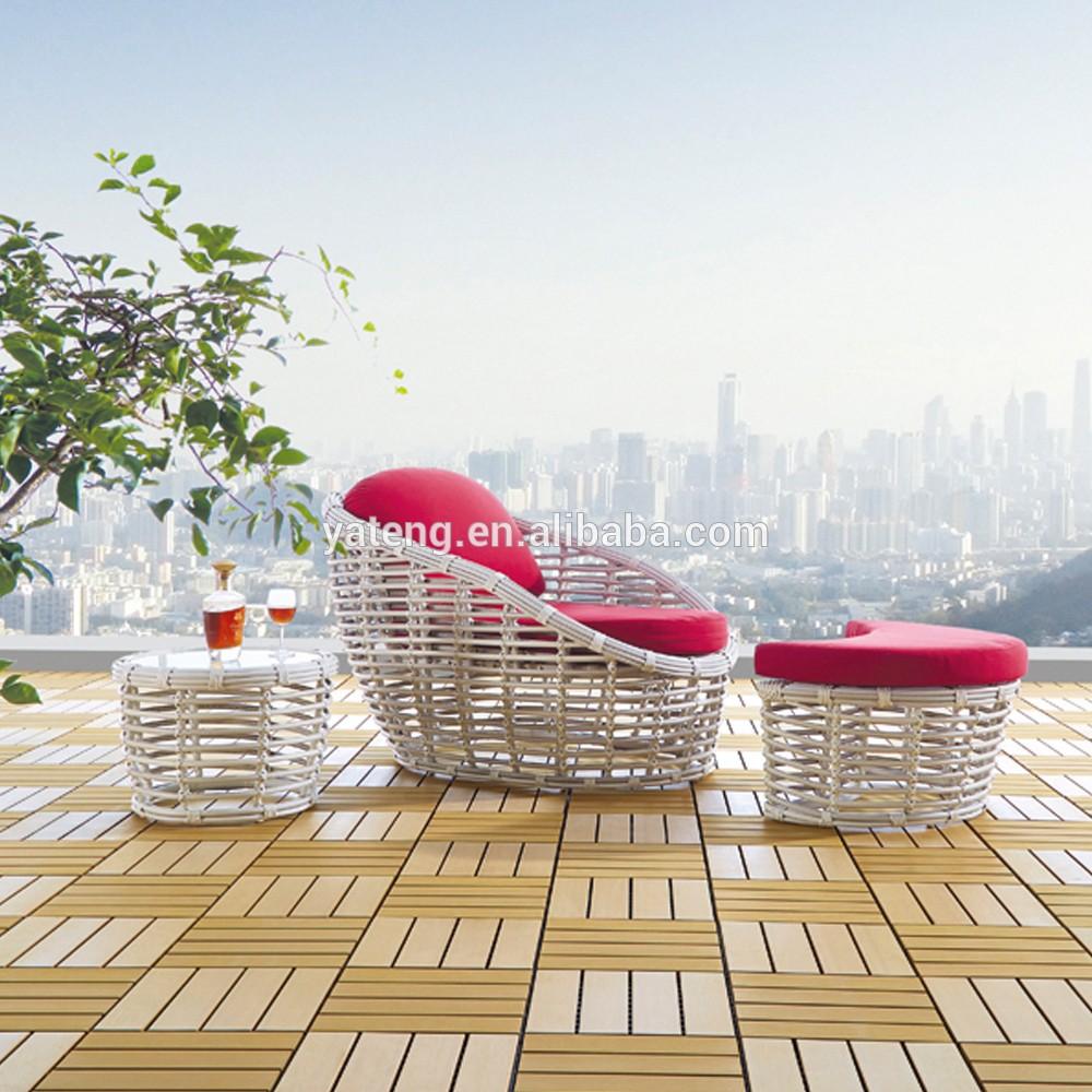 vente chaude en rotin en plein air osier canap lit de. Black Bedroom Furniture Sets. Home Design Ideas