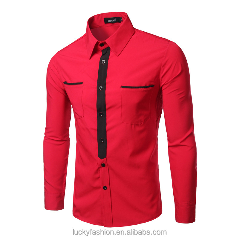 Professional New Model Custom Mens Slim Fit Long Sleeve Casual Dress <strong>Shirt</strong>