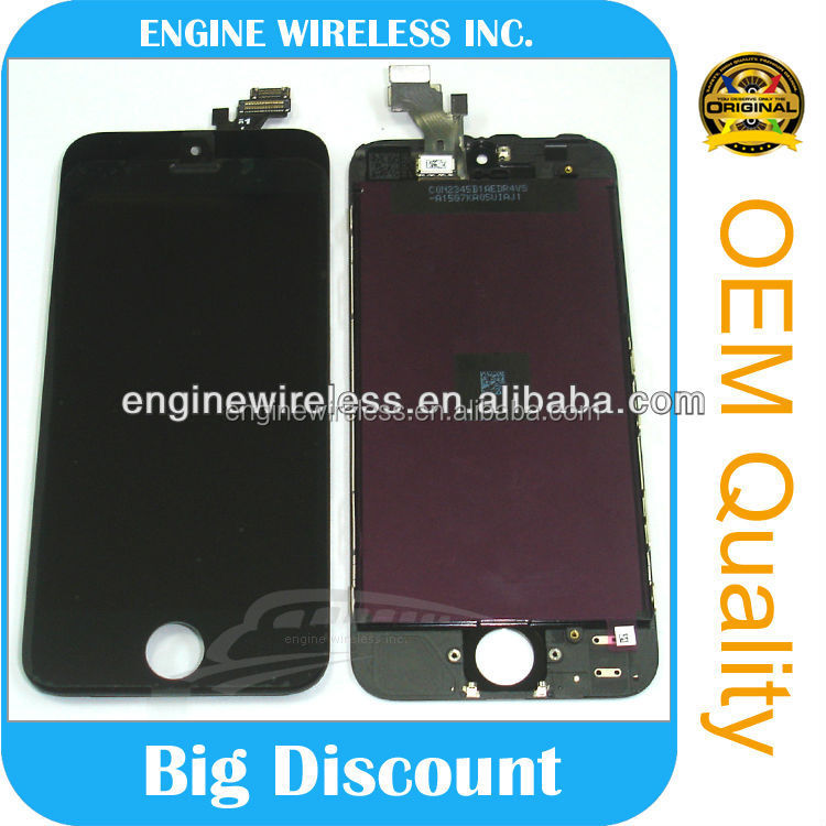 for apple iphone 5 a1429 lcd display touch screen digitizer , for iphone 5 touch screen