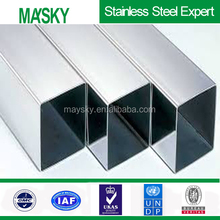 hairline surface hot rolled 430 stainless steel square pipe