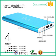 2015 new design hot sale portable universal ultra slim aa battery power bank charger 8000mah