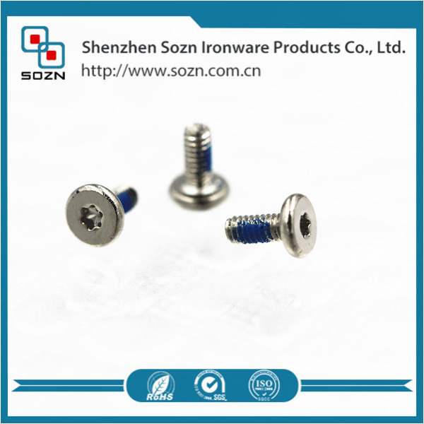 Customized T6 torx socket screw according to drawing