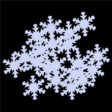 party decoration pvc material snowflake confetti