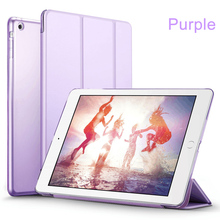 Ultra Slim Magnetic Stand Folio Case With Translucent Back Smart Flip Cover Case For Apple iPad 9.7 inch 2017