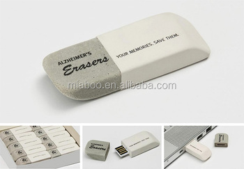 Cheap custom flash memory usb eraser shape usb flash drive, Embossed logo custom eraser usb flash drive