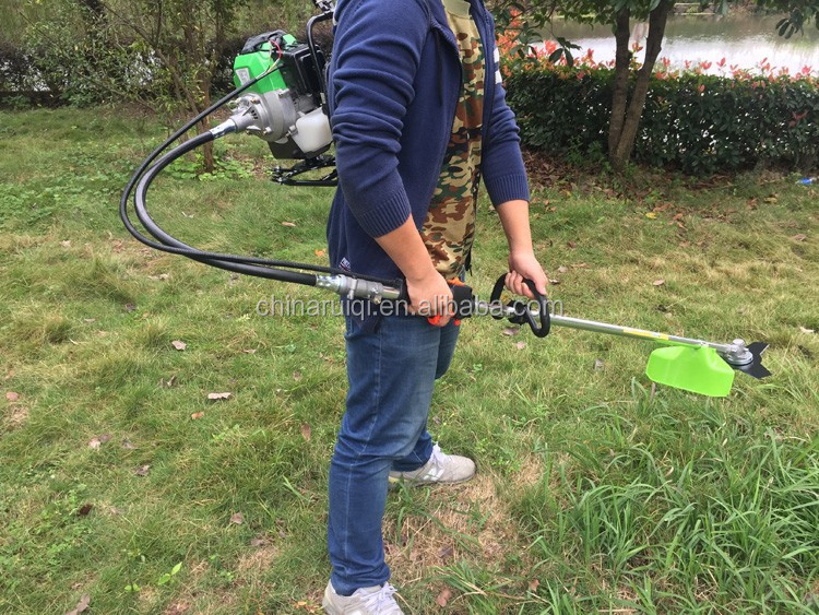 Cheap price 430 backpack gasoline brushcutter 43cc grass trimmer