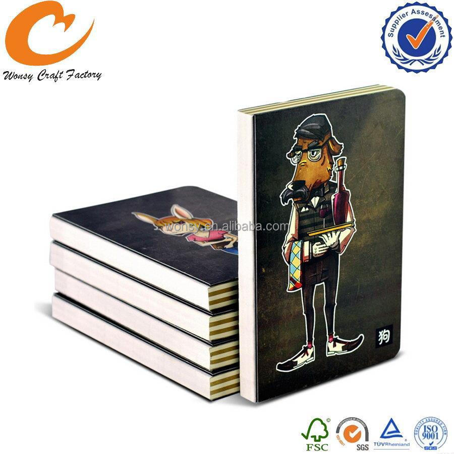 Designer most popular notebook stationery with paper cover