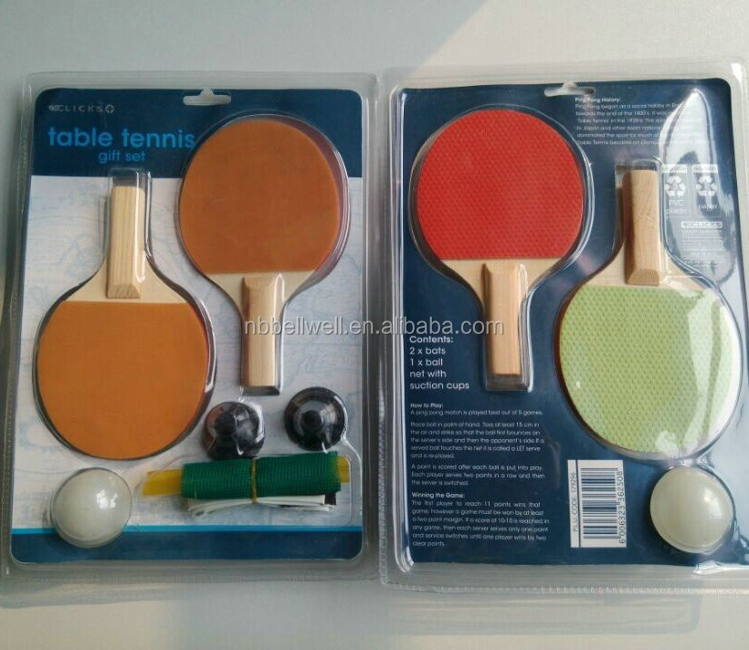 Glow in the dark Indoor Mini Desktop table tennis set,ping pong paddle