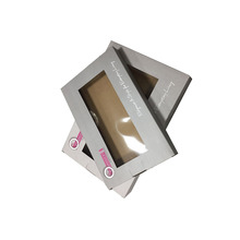 Multicolor Gift Paper Box Packaging with PVC see trough window