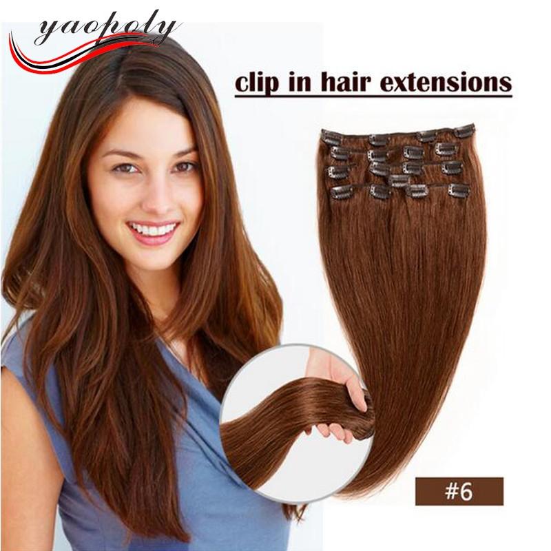 Wholesale Peruvian Human Hair Clip In Hair Extensions Human Hair